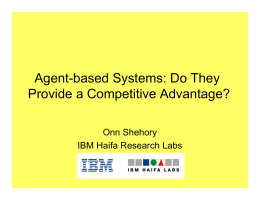 Agent-based Systems: Do They Provide a