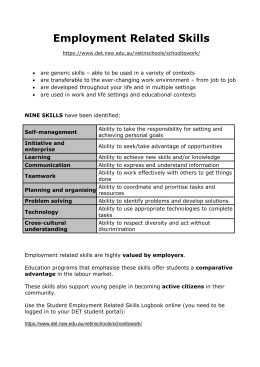 Employment Related Skills