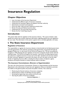 Chapter 2 - Insurance Schools
