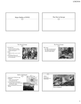 7-8 War in Europe and Pacific - PPT as PDF