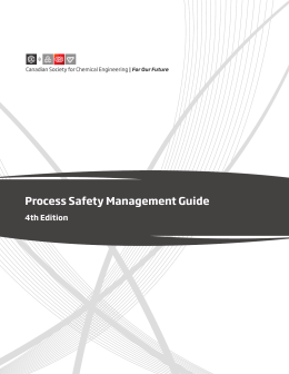 CSChE Process Safety Management Guide