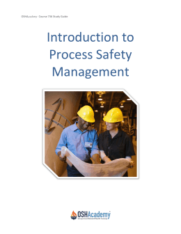 Introduction to Process Safety Management