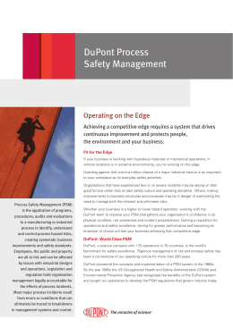 DuPont Process Safety Management
