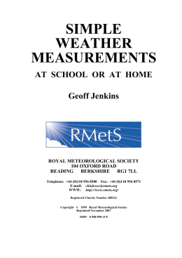 simple weather measurements - Royal Meteorological Society