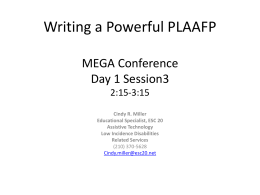 Writing a Powerful PLAAFP - ESC-20