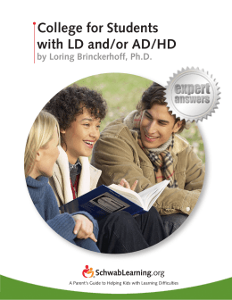 College for Students with LD and/or AD/HD