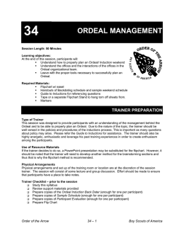 ordeal management - OA Training