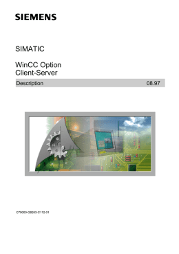 Client-Server SIMATIC WinCC Option