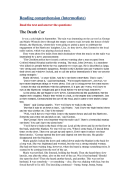 Reading comprehension (Intermediate) The Death Car