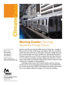 NRDC: Moving Cooler - Securing America`s Energy Future