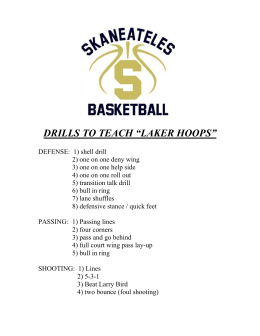 "DRILLS TO TEACH ""LAKER HOOPS"""