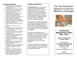 The `Get Permission` Approach to Sensory Mealtime Challenges