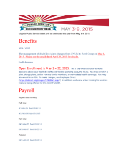 May HR e-Newsleter - Southwest Virginia Community College