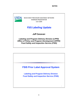 FSIS Labeling Update