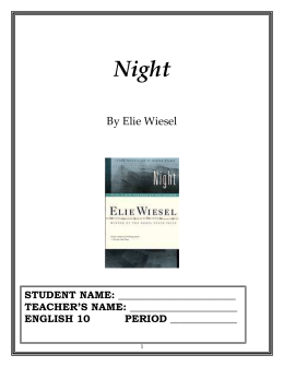 Night By Elie Wiesel - Farmingdale Schools