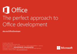 The perfect approach to Office development - MSDN