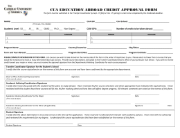 cua education abroad credit approval form