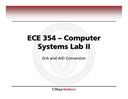 ECE 354 – Computer Systems Lab II