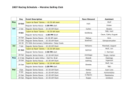 2007 Racing Schedule – Moraine Sailing Club
