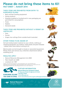 Kangaroo Island prohibited items fact sheet