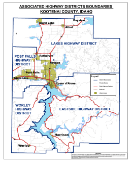 Kootenai County Associated Highway District Boundaries