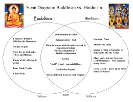 Venn Diagram: Buddhism vs. Hinduism - mr. cioffi