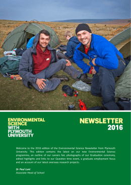 NEWSLETTER - Plymouth University