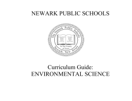 Newark Public Schools Environmental Science