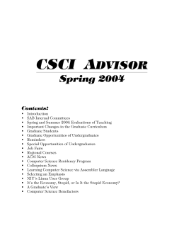 csci advisor - Computer Science at NIU