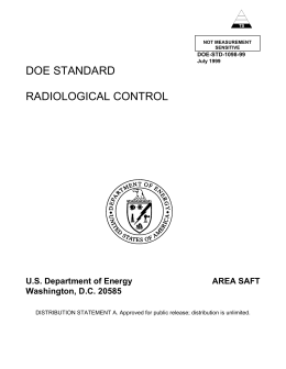 DOE Standard Radiological Control