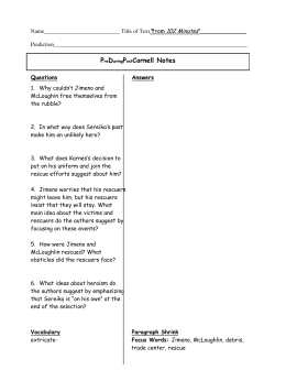 Microsoft Word - PDP Cornell Notes for 102 Minutes and Of Clay