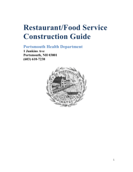 Restaurant/Food Service Construction Guide