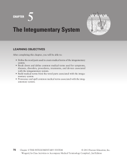 excercise 7 the integumentary system Laboratory manual for human biology, 3rd edition exercise 7 the integumentary system exercise 10 the nervous system i: organization.