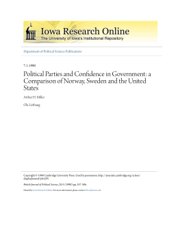 Political Parties and Confidence in Government: a Comparison of