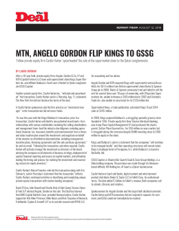 MTN, ANGELO GORDON FLIP KINGS TO GSSG
