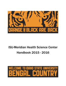 ISU-Meridian Health Science Center Handbook 2015