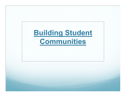 Building Student Communities Presentation