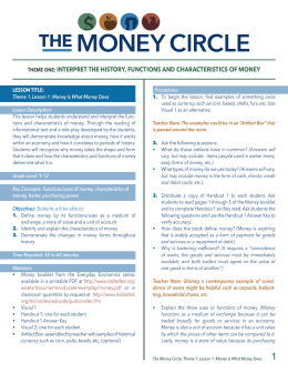 interpret the history, functions and characteristics of money