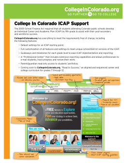 College In Colorado ICAP Support