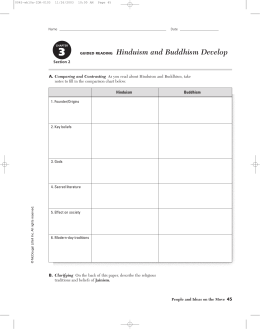 GUIDED READING Hinduism and Buddhism Develop