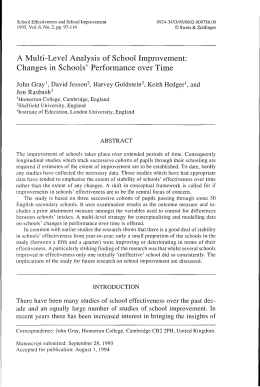 Changes in Schools` Performance over Time