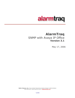IP Office SNMP Traps