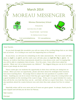 moreau messenger - South Glens Falls Central Schools