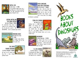 Books About Dinosaurs - Perrot Memorial Library