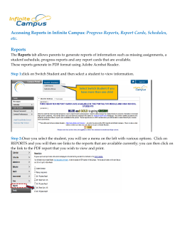 Accessing Reports in Infinite Campus: Progress Reports, Report
