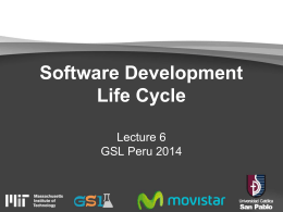 T4 - Software Development Life Cycle