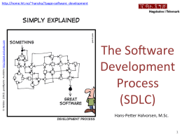 The Software Development Process (SDLC)