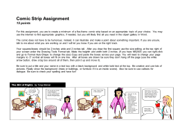 Social Studies Comic Strip Assignment