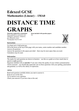 1MA0 DISTANCE TIME GRAPHS