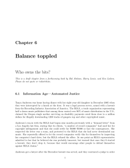 Balance toppled - MIT Computer Science and Artificial Intelligence